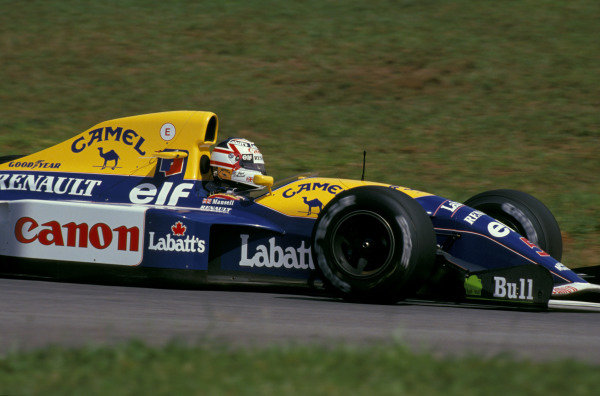 Nigel Mansell, Williams FW14B Renault.
