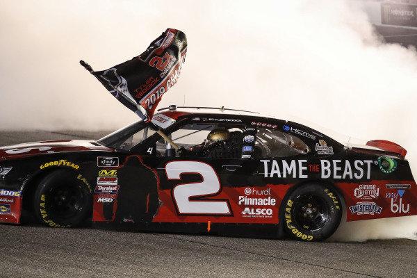 Champion #2: Tyler Reddick, Richard Childress Racing, Chevrolet Camaro TAME the BEAST, burnout