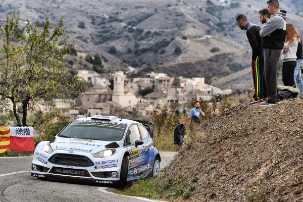 Ott Tanak (EST) / Raigo Molder (EST) Ford Fiesta RS WRC at FIA World Rally Championship, Rd12, RAAC Rally de Espana, Day Two, Costa Daurada, Catalunya, Spain, 24 October 2015.