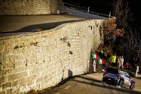Dani Sordo (ESP) / Marc Marti (ESP), Hyundai Motorsport i20 WRC at FIA World Rally Championship, Rd1, Rally Monte Carlo, Day Three, Monte Carlo, Monaco, 24 January 2016.