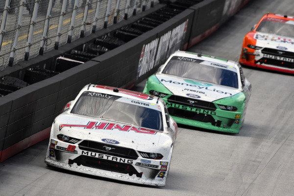 #00: Cole Custer, Stewart-Haas Racing, Ford Mustang Haas Automation and #22: Austin Cindric, Team Penske, Ford Mustang MoneyLion