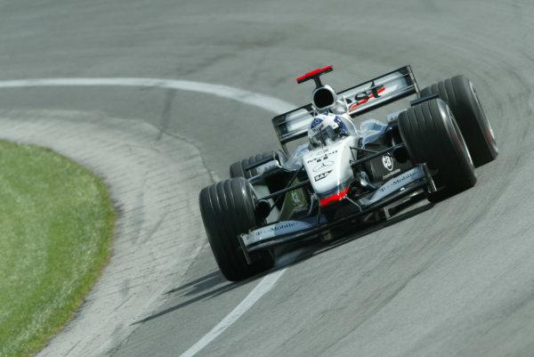 2002 USA Grand Prix - PracticeIndianapolis, USA, 27th September 2002David Coulthard.World Copyright: Steve Etherington/LATref: Digital Image Only