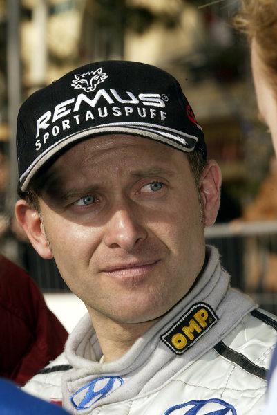 2003 FIA World Rally Championship. Monte Carlo, Monaco. Rd1.23-26 January 2003.Armin Schwarz (Hyundai) 8th position. World Copyright: McKlein/LAT Photographic