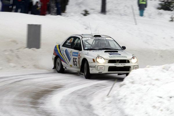 2003 FIA World Rally Championship. Karlstad, Sweden. Rd2.6-9 February 2003.Stig Blomqvist/Ana Goni (Subaru Impreza) Group N.World Copyright: McKlein/LAT Photographic