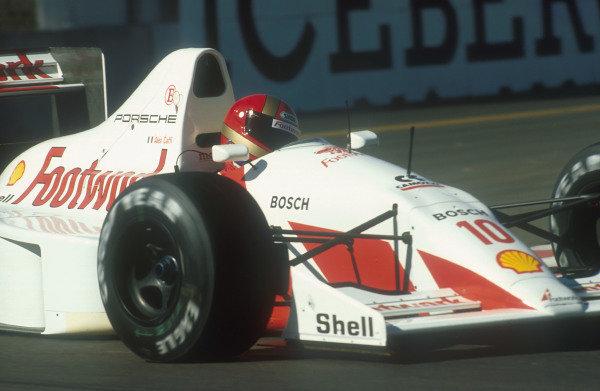 1991 United States Grand Prix.Phoenix, Arizona, U.S A.8-10 March 1991.Alex Caffi (Footwork A11C Porsche). He failed to qualify.Ref-91 USA 36.World Copyright - LAT Photographic