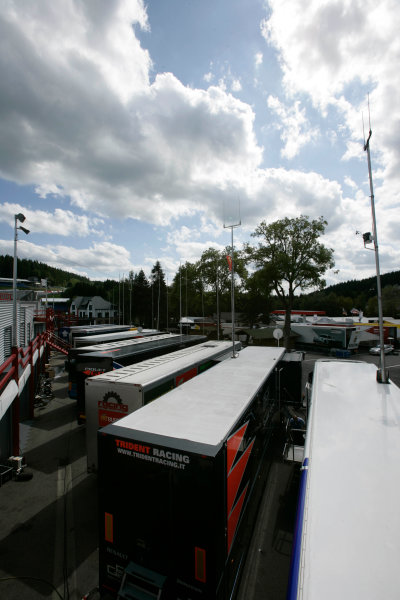 Spa-Francorchamps, Spa, Belgium 27th August 2009.Thursday Preview.GP2 Paddock. Atmosphere. World Copyright: Alastair Staley / GP2 Series Media Service.Ref: _P9O1609 jpg