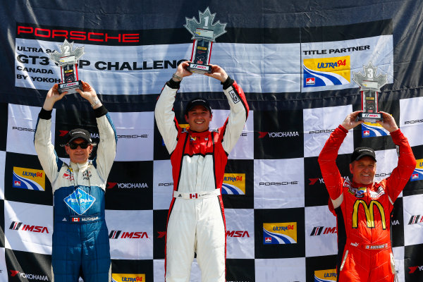 20-22 May 2016, Bowmanville, Ontario, Canada  GT3 Cup Canada, Race 2, Gold Podium ?2016, Jake Galstad LAT Photo USA