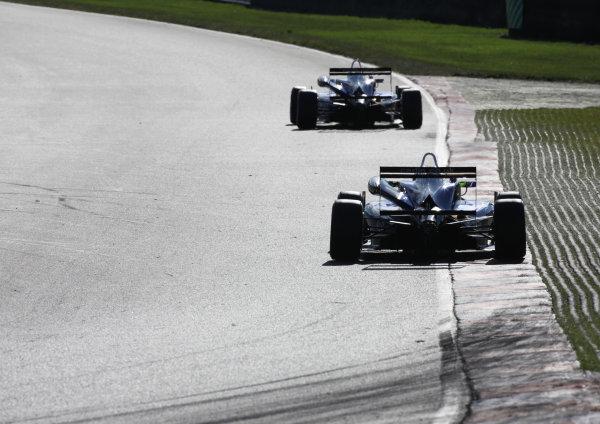 Brands Hatch, Kent. 10th - 11th August 2013.  Jazeman Jaafar, Carlin Dallara Mercedes, leads Jordan King, Carlin Dallara VW.  Ref: IMG_4023a. World Copyright: Kevin Wood/LAT Photographic