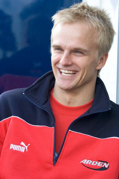 2005 GP2 Series - ImolaAutodromo Enzo e Dino Ferrari, Italy. 21st - 24th April.Thursday Preview.Heikki Kovalainen (FIN, Arden International). Portrait.Photo: GP2 Series Media Serviceref: Digital Image Only.
