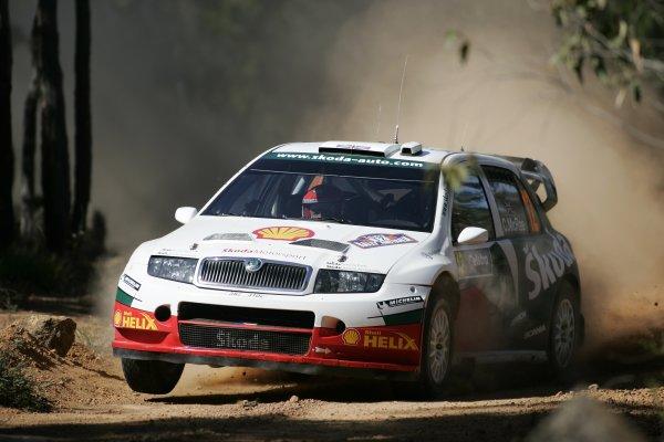 2005 FIA World Rally Champs. Round Sixteen, Rally Australia.10th - 13th November 2005.Colin McRae, Skoda, action.World Copyright: McKlein/LAT