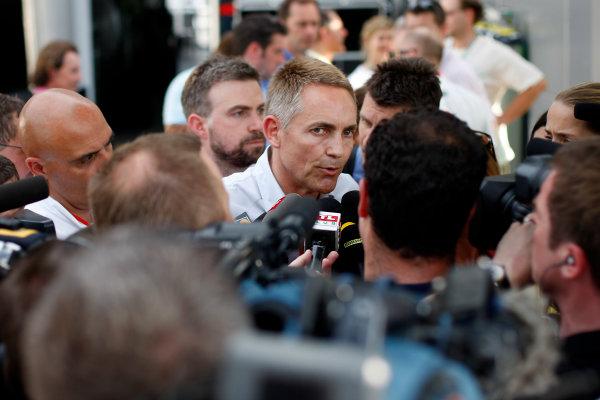 Sepang, Kuala Lumpur, Malaysia2nd April 2009Martin Whitmarsh, Team Principal, McLaren Mercedes explains Lewis Hamilton's disqualification in Australia to the assembled media. Portrait.World Copyright: Glenn Dunbar/LAT Photographicref: Digital Image _O9T3479
