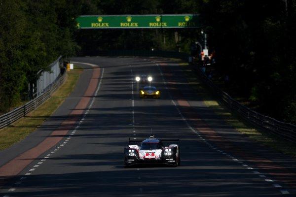 2017 Le Mans 24 Hours Circuit de la Sarthe, Le Mans, France. Wednesday 14 June 2017 #2 Porsche Team Porsche 919 Hybrid: Timo Bernhard, Earl Bamber, Brendon Hartley World Copyright: Rainier Ehrhardt/LAT Images ref: Digital Image DSC_9222