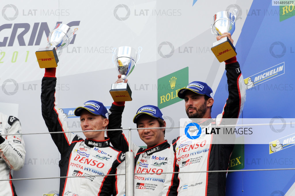 2017 World Endurance Championship, Nurburgring, Germany. 14th-16th July 2017 #7 Toyota Gazoo Racing Toyota TS050-Hybrid: Mike Conway, Kamui Kobayashi, Jose Maria Lopez World copyright. JEP/LAT Images
