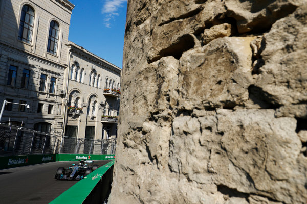 Baku City Circuit, Baku, Azerbaijan. Friday 23 June 2017. Valtteri Bottas, Mercedes F1 W08 EQ Power+.  World Copyright: Steven Tee/LAT Images ref: Digital Image _R3I2309