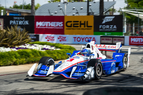 2017 Verizon IndyCar Series Toyota Grand Prix of Long Beach Streets of Long Beach, CA USA Friday 7 April 2017 Helio Castroneves World Copyright: Gavin Baker/LAT Images