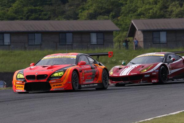 2017 Japanese Super GT Series. Autopolis, Japan. 20th - 21st May 2017. Rd 3. GT300 3rd position Shinichi Takagi & Sean Walkinshaw ( #55 ARTA BMW M6 GT3 ) action World Copyright: Masahide Kamio / LAT Images. Ref: 2017SGT_Rd3_014