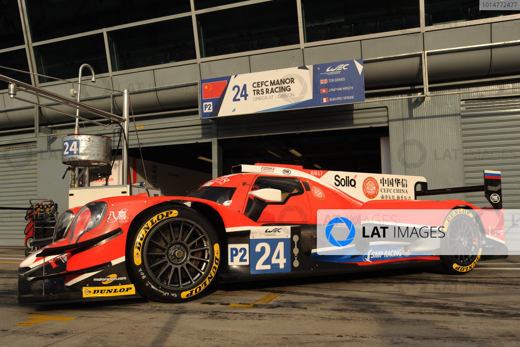2017 FIA World Endurance Championship, 31st March - 2nd April, 2017, Monza Prologue, Tor Graves (GBR) \ Roberto Gonzalez (MEX) \ Jonathan Hirschi (CHE) \ Simon Trummer (CHE) \ Vitaly Petrov (RUS) - CEFC MANOR TRS RACING - Oreca 07 ? Gibson World Copyright: JEP/LAT Images.