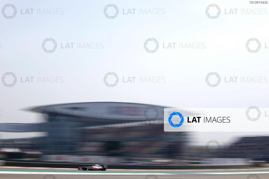 Shanghai International Circuit, Shanghai, China Saturday 13th April 2013 Sergio Perez, McLaren MP4-28 Mercedes.  World Copyright: Glenn Dunbar/LAT Photographic ref: Digital Image _89P6219