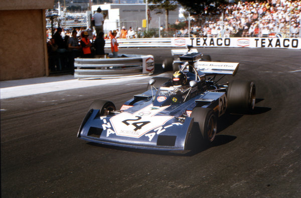 Monte Carlo, Monaco.31/5-3/6 1973.Carlos Pace (Surtees TS14A Ford).Ref-73 MON 30.World Copyright - LAT Photographic