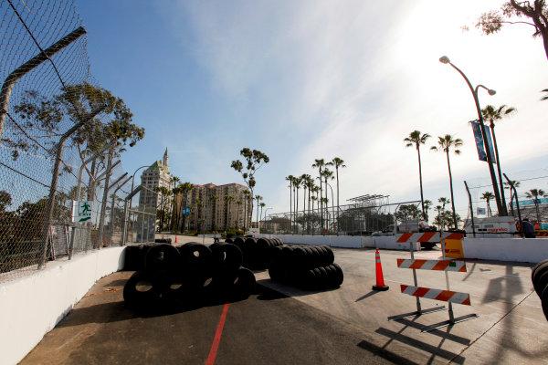 2014/2015 FIA Formula E Championship. Long Beach ePrix, Long Beach, California, United States of America. Friday 3 April 2015 Track construction. Photo: Zak Mauger/LAT/Formula E ref: Digital Image _MG_5115