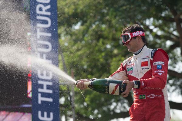 2014 Formula E  Buenos Aires e-Prix, Argentina Saturday 10 January 2015. Nelson Piquet Jr (BRA)/China Racing - Spark-Renault SRT_01E  Photo: Alastair Staley/LAT/Formula E ref: Digital Image _R6T2017
