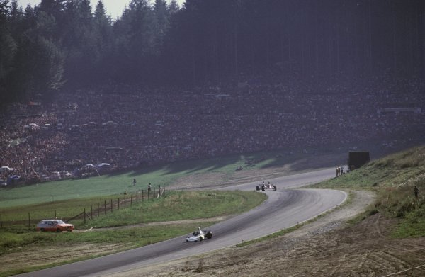 Race winner Carlos Reutemann (ARG) Brabham BT44 leads fifth placed Clay Regazzoni (SUI) Ferrari 312B3, who maintained his lead in the World Championship.