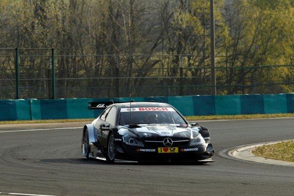2014 DTM Testing. Hungaroring, Hungary. 31st March 2014. Gary Paffett (GBR) Mercedes AMG DTM-Team HWA World Copyright: XPB / LAT Photographic. Ref: 3030954_HiRes.jpg