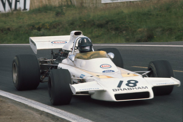 1972 French Grand Prix.  Clermont-Ferrand, France. 30th June - 2nd July 1972.  Graham Hill, Brabham BT37 Ford, 10th position.  Ref: 72FRA44. World Copyright: LAT Photographic
