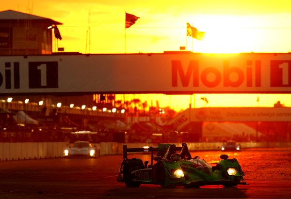 12-15  March, 2014, Sebring, Florida, USA #1, Honda, HPD ARX-03b, P, Scott Sharp, Ryan Dalziel, David Brabham sunset © 2014, Michael L. Levitt LAT Photo USA