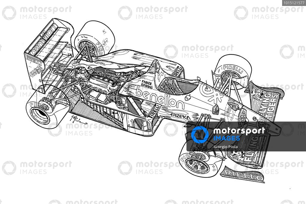Benetton B186 1986 detailed overview