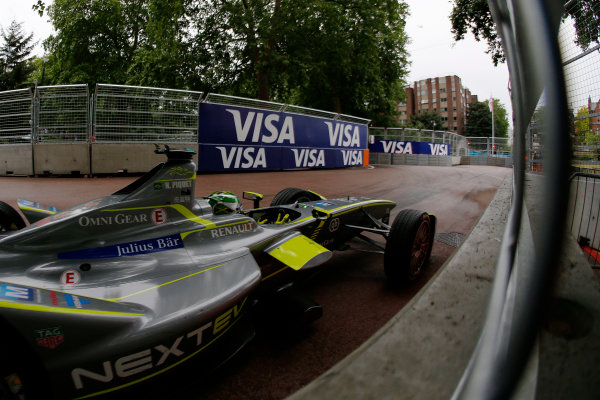 2014/2015 FIA Formula E Championship. London ePrix, Battersea Park, London, United Kingdom. Sunday 28 June 2015 Nelson Piquet Jr (BRA)/China Racing - Spark-Renault SRT_01E Photo: Zak Mauger/LAT/Formula E ref: Digital Image _L0U0137