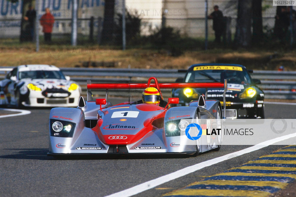 2002 Le Mans Pre Qualifying, France5th May 2002Audi out in frontWorld Copyright Bloxham/LAT Photographic