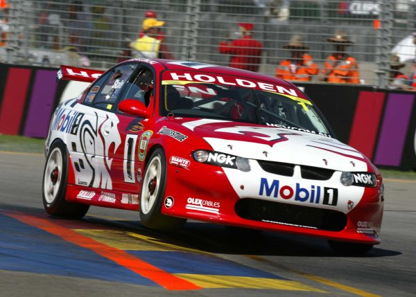 2002 Australian V8 SupercarsAdelaide Clipsal 500. Australia. 17th March 2002.Mark Skaife driving his Holden VX Commodore on his way to victory in race one of the Clipsal 500 in Adelaide. World Copyright: Mark Horsburgh/LAT Photographicref: Digital Image Only