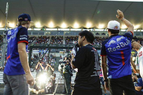 Brendon Hartley, Scuderia Toro Rosso, and Pierre Gasly, Scuderia Toro Rosso