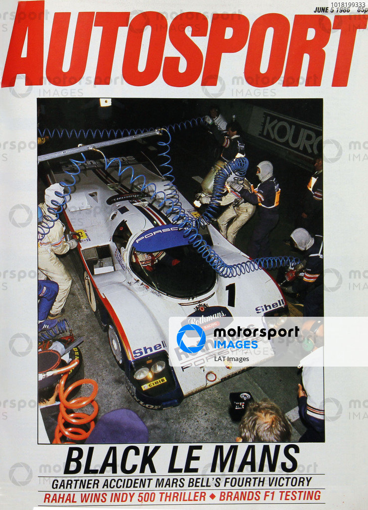 Cover of Autosport magazine, 5th June 1986