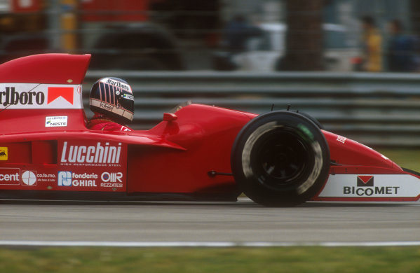 1991 San Marino Grand Prix.Imola, Italy.26-28 April 1991.J J. Lehto (Dallara 191 Judd) 3rd position.Ref-91 SM 17.World Copyright - LAT Photographic