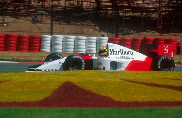 1992 South African Grand Prix.Kyalami, South Africa.28/2-1/3 1992.Ayrton Senna (McLaren MP4/6B Honda) 3rd position.Ref-92 SA 17.World Copyright - LAT Photographic