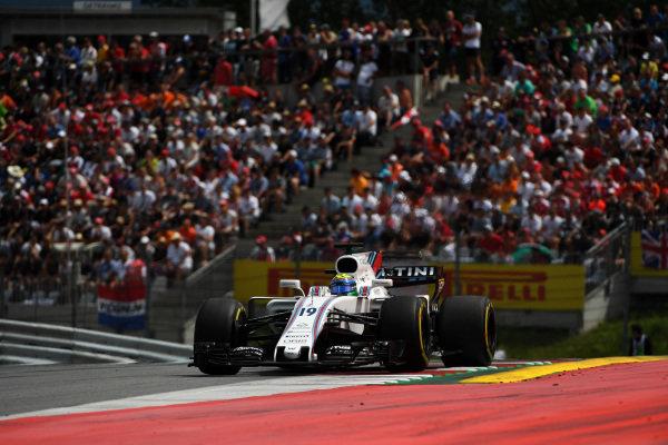 Felipe Massa (BRA) Williams FW40 at Formula One World Championship, Rd9, Austrian Grand Prix, Race, Spielberg, Austria, Sunday 9 July 2017.