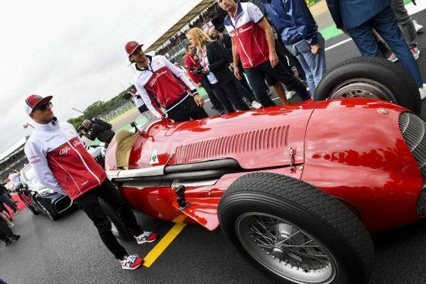 Kimi Raikkonen, Alfa Romeo Racing, tries an Alfa Romeo 159