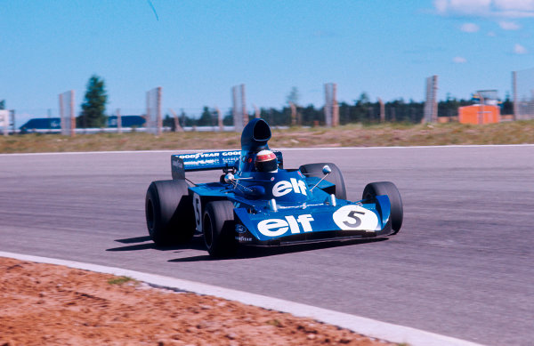 1973 Swedish Grand Prix.Anderstorp, Sweden.15-17 June 1973.Jackie Stewart (Tyrrell 006 Ford) 5th position.Ref-73 SWE 38.World Copyright - LAT Photographic