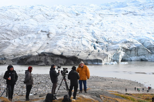 Peter Wadhams, Professor of Ocean Physics, and Head of the Polar Ocean Physics Group in the Department of Applied Mathematics and Theoretical Physics, University of Cambridge, on the Russell Glacier