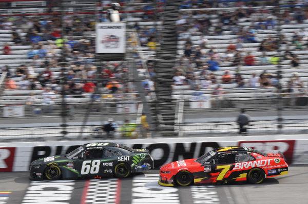 #68: Brandon Brown, Brandonbilt Motorsports, Chevrolet Camaro TradeTheChain.com, #7: Justin Allgaier, JR Motorsports, Chevrolet Camaro BRANDT