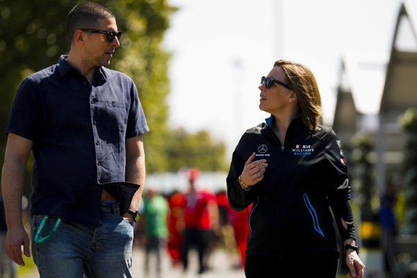 Claire Williams, Deputy Team Principal, Williams Racing and Marc Harris
