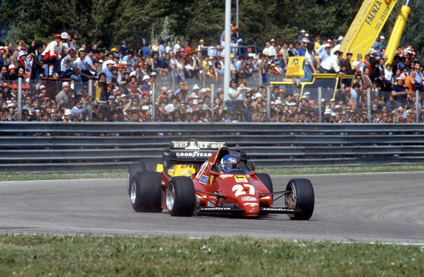 1983 San Marino Grand Prix.Imola, Italy.29/4-1/5 1983.Patrick Tambay (Ferrari 126C2B) 1st position.Ref-83 SM 10.World Copyright - LAT Photographic