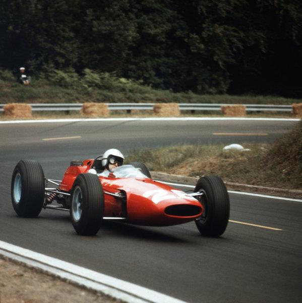 Rouen-les-Essarts, France.26-28 June 1964.Lorenzo Bandini (Ferrari 158) 9th position.Ref-3/1275.World Copyright - LAT Photographic