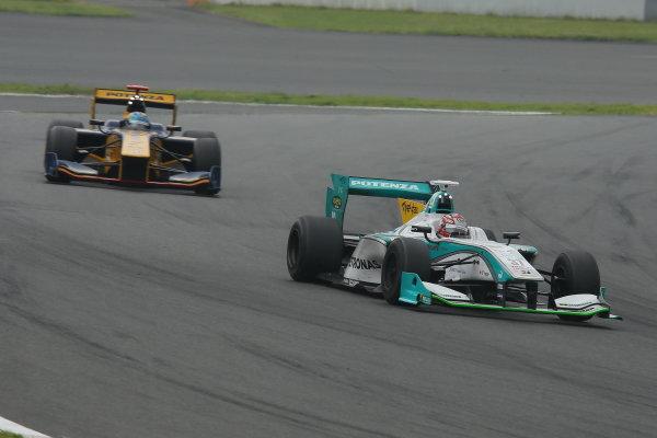 2014 Super Formula Series. Fuji, Japan. 11th - 13th July 2014. Rd 3. Winner Kazuki Nakajima ( #37 TEAM TOM'S SF14 ) action. World Copyright: Yasushi Ishihara / LAT Photographic. Ref: 2014SF_Rd3_005.JPG