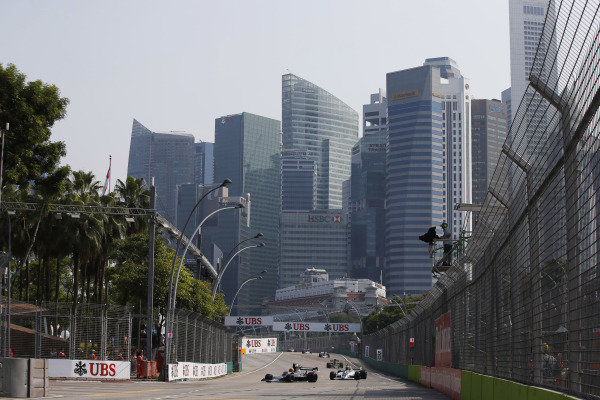 Marina Bay Circuit, Singapore. Sunday 21 September 2014. Action from race 2 of the Masters Historic Grand Prix support race. World Copyright: Charles Coates/LAT Photographic. ref: Digital Image _J5R7361