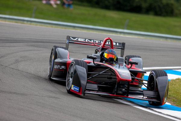 FIA Formula E Test Day, Donington Park, UK.  3rd - 4th July 2014.  Nick Heidfeld, Venturi Grand Prix. Photo: Malcolm Griffiths/FIA Formula E ref: Digital Image F80P7387