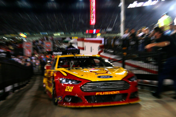 22-23 August, 2014, Bristol, Tennessee USA Joey Logano drives to victory lane ?2014, Lesley Ann Miller LAT Photo USA