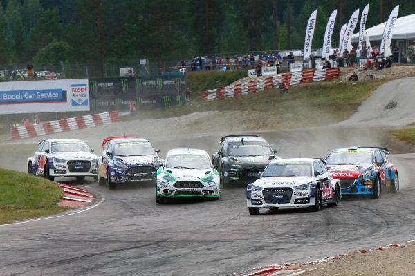 2014 FIA World Rallycross Championship Round 05 H?ljes, Sweden 5th & 6th July 2014 Mattias Ekstrom, Audi, start Worldwide Copyright: McKlein/LAT